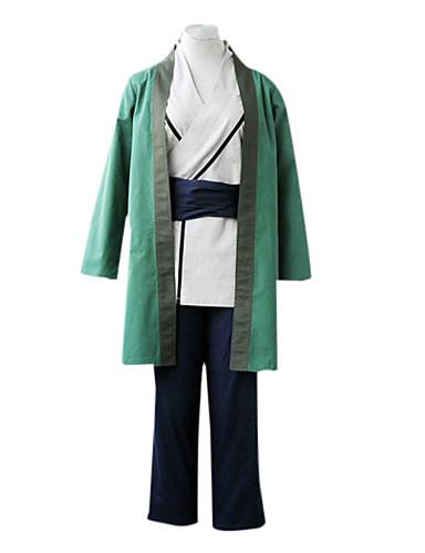povoljno Anime cosplay-Inspirirana Naruto Tsunade Anime Cosplay nošnje Japanski Cosplay Suits / Kimono Kolaž Dugih rukava Hlače / Pojas / Plašt Za Žene