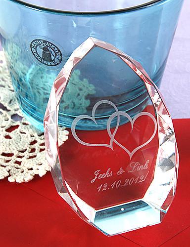 preiswerte Kristallfiguren-Krystall Kristall Artikel Braut Eltern Hochzeit Jahrestag Einweihungsparty