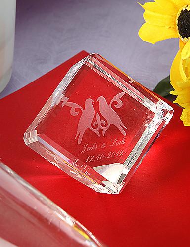preiswerte Kristallfiguren-Krystall Kristall Artikel Braut Brautjungfer Blumenmädchen Ringträger Baby & Kinder Hochzeit Jahrestag Geburtstag Neues Baby