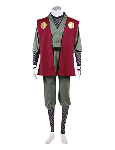 povoljno Maske i kostimi-Inspirirana Naruto Jiraiya Anime Cosplay nošnje Japanski Cosplay Suits / Kimono Kolaž Dugih rukava Mellény / Hlače / Pojas Za Muškarci