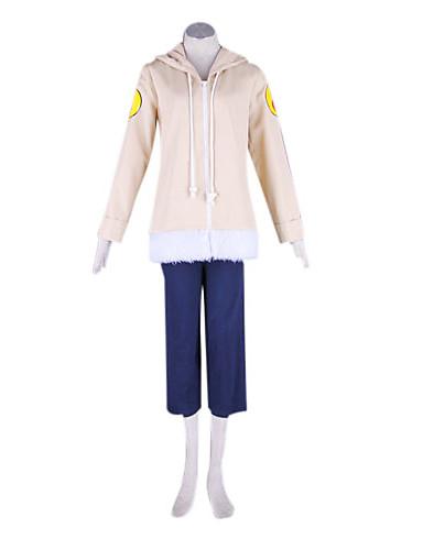 povoljno Anime cosplay-Inspirirana Naruto Hinata hyuga Anime Cosplay nošnje Japanski Cosplay Suits Kolaž Dugih rukava Kaput / Hlače Za Muškarci / Žene