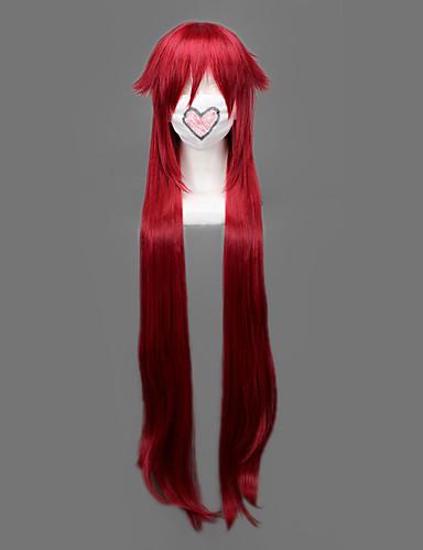 povoljno Maske i kostimi-Crna Butler Grell Sutcliff Cosplay Wigs Muškarci 36 inch Otporna na toplinu vlakna Crvena Anime