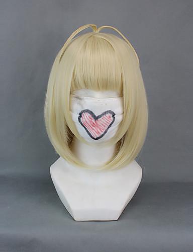 povoljno Maske i kostimi-Blue Exorcist Shiemi Moriyama Cosplay Wigs Žene 16 inch Otporna na toplinu vlakna Zlatan Anime