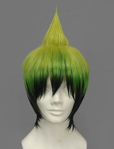 levne Cosplay paruky-Blue Exorcist Amaimon Cosplay Paruky Pánské 12 inch Horkuvzdorné vlákno Zelená Anime