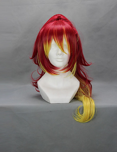 povoljno Maske i kostimi-Blue Exorcist Shura Kirigakure Cosplay Wigs Žene 32 inch Otporna na toplinu vlakna Crvena Anime