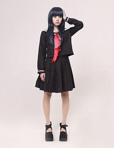 povoljno Anime cosplay-Inspirirana Hell Girl Ai Enma Anime Cosplay nošnje Japanski Cosplay Suits / School Uniforms Kolaž Dugih rukava Kravata / Top / Suknja Za Žene