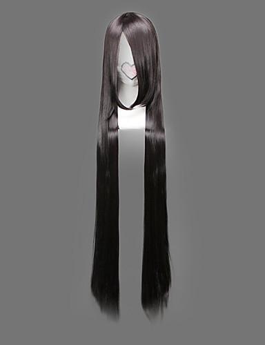 levne Cosplay paruky-One Piece Boa Hancock Cosplay Paruky Dámské 48 inch Horkuvzdorné vlákno Černá Anime