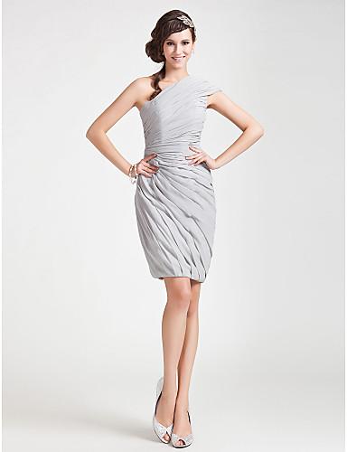 953b67c028aa θήκη   στήλη έναν ώμο γόνατο σιφόν φόρεμα κοκτέιλ 199451 2019 –  119.99