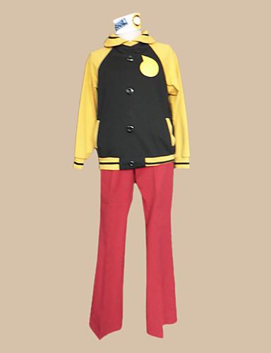 povoljno Maske i kostimi-Inspirirana Žderač duše Black Star Anime Cosplay nošnje Japanski Cosplay Suits Color block Dugih rukava Kaput / Hlače / Glava Za Muškarci