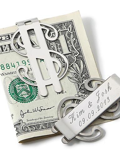preiswerte Geld-Clips-Edelstahl Geld Clips Bräutigam Trauzeuge Hochzeit Jahrestag