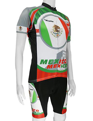 povoljno Odjeća za vožnju biciklom-Malciklo Muškarci Kratkih rukava Biciklistička majica s kratkim hlačama Meksiko Državne zastave Bicikl Sportska odijela Brdski biciklizam biciklom na cesti Prozračnost Quick dry Sportski Poliester
