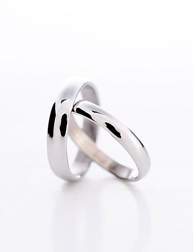 preiswerte Schmuck Ausverkauf-Damen Paar Statement-Ring Ring Platiert Liebe Modisch Alltag Schmuck