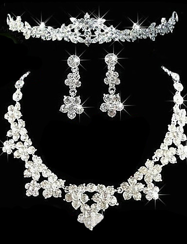 cheap Trendy Jewelry-Women's Others Jewelry Set Earrings / Necklace / Tiaras - Regular For Wedding / Party / Anniversary