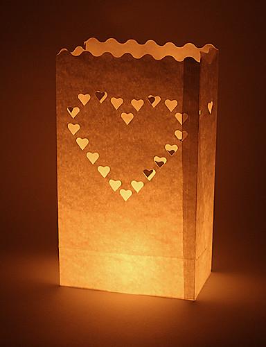 preiswerte Unter €7-Kerzen & Kerzenständer Material / Hartkartonpapier Hochzeits-Dekorationen Hochzeit / Party Las Vegas / Hochzeit Frühling / Sommer / Herbst