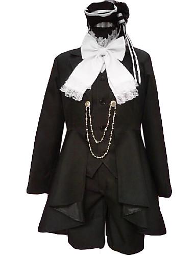 povoljno Maske i kostimi-Inspirirana Crna Butler Ciel Phantomhive Anime Cosplay nošnje Japanski Cosplay Suits Kolaž Dugih rukava Kravata / Kaput / Mellény Za Muškarci
