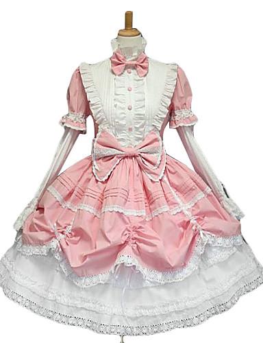 cheap Lolita Dresses-Princess Women's Sweet Lolita Gothic Lolita Classic Lolita Dress Pink Bowknot Lace Cotton Lolita Accessories / Gothic Lolita Dress / Punk Lolita Dress / Punk Lolita