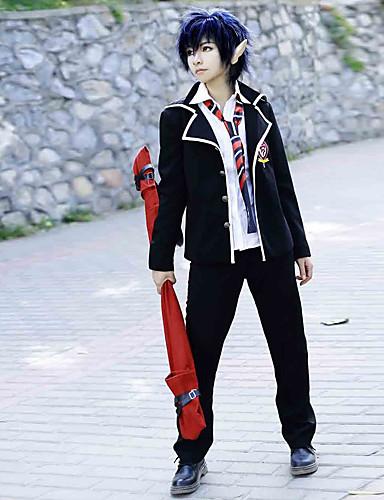 povoljno Maske i kostimi-Inspirirana Blue Exorcist Rin Okumura Anime Cosplay nošnje Japanski Cosplay Suits / School Uniforms Jednobojni Dugih rukava Kaput / Shirt / Hlače Za Muškarci / Žene