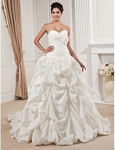 d3eb6a67bf7c ballkjole kjæreste stroppeløs kapell tog taffeta brudekjole 432770 2019 –   449.99