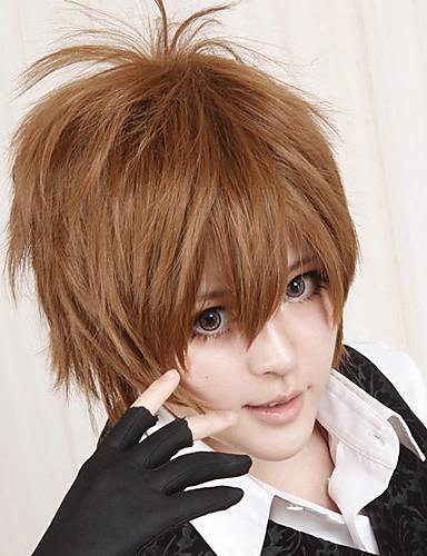 povoljno Maske i kostimi-Reborn! Tsunayoshi Sawada Cosplay Wigs Muškarci 12 inch Otporna na toplinu vlakna Braon Anime