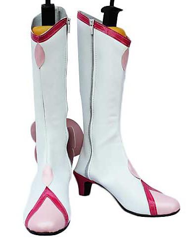 preiswerte Anime-Cosplay-Schuhe-Cosplay Stiefel Andere / Cosplay Cure Blossom Anime Cosplay Schuhe PU-Leder Damen Halloween Kostüme