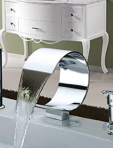 preiswerte Romanische Wanne-Badewannenarmaturen - Moderne Chrom Romanische Wanne Keramisches Ventil Bath Shower Mixer Taps / Zwei Griffe Drei Löcher
