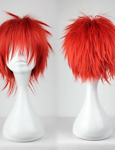 povoljno Maske i kostimi-Cosplay Akashi Seijyuurou Cosplay Wigs Muškarci 12 inch Otporna na toplinu vlakna Crvena Anime