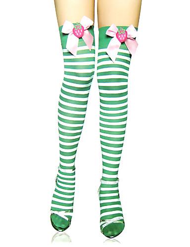 levne Punčocháče-Dámské Sweet Lolita Ponožky a punčochy ponožky do výšky stehen Proužky S proužky Lolita Příslušenství / Vysoká pružnost