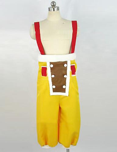 povoljno Maske i kostimi-Inspirirana One Piece Usopp Anime Cosplay nošnje Japanski Cosplay Suits Bez rukávů Hlače / Narukvica Za Muškarci