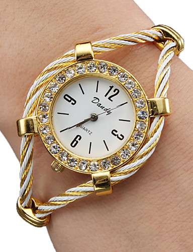 cheap Bracelet Watches-Women's Ladies Fashion Watch Bracelet Watch Diamond Watch Quartz Gold Analog Sparkle Bangle - Gold One Year Battery Life / SSUO 377