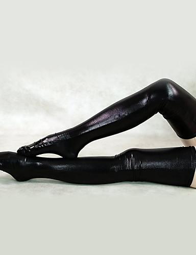 billige Zentai-Sokker og Strømpebukser Huddrag Ninja Voksne Spandex Lasteks Cosplay-kostymer Kjønn Herre Dame Hvit / Svart Ensfarget Halloween / Strømper / Høy Elastisitet