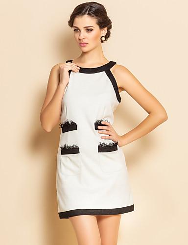 Vestido blanco sin manga