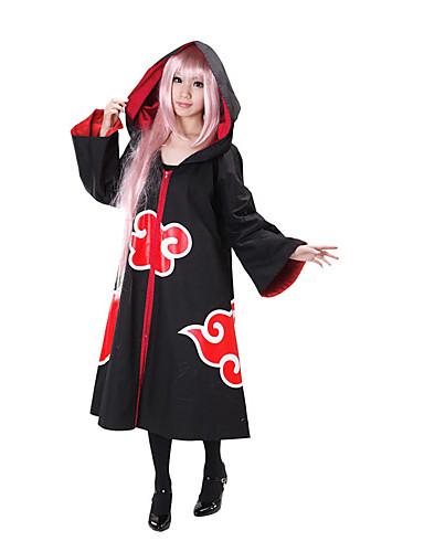 povoljno Maske i kostimi-Inspirirana Naruto Akatsuki Anime Cosplay nošnje Japanski Cosplay Suits Kolaž Dugih rukava Plašt Za Žene