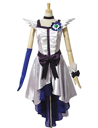 povoljno Maske i kostimi-Inspirirana PrettyCure Cure Moonlight Anime Cosplay nošnje Japanski Cosplay Suits / Dresses Kolaž Bez rukávů Haljina / Glava / Rukavica Za Žene / Saten