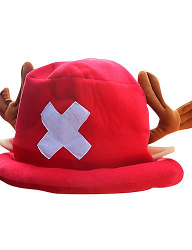 povoljno Maske i kostimi-Hat / Cap Inspirirana One Piece Tony Tony Chopper Anime Cosplay Pribor Kapa Šešir Flis Muškarci Noć vještica