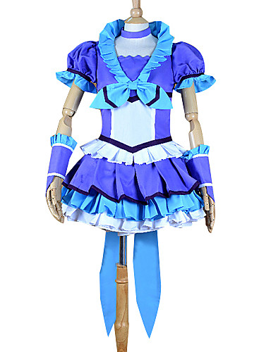 povoljno Maske i kostimi-Inspirirana PrettyCure Cure pobijediti Anime Cosplay nošnje Japanski Cosplay Suits / Dresses Kolaž Kratkih rukava Top / Suknja / Glava Za Žene
