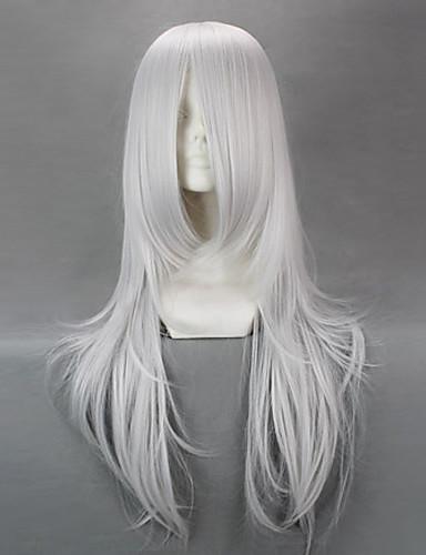 levne Cosplay paruky-Natsume Yuujinchou cosplay Cosplay Paruky Pánské Dámské 28 inch Stříbrná Anime