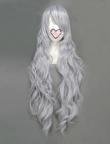 povoljno Maske i kostimi-Fairy Tail Mirajane·Strauss Cosplay Wigs Žene 36 inch Otporna na toplinu vlakna Sive boje Anime