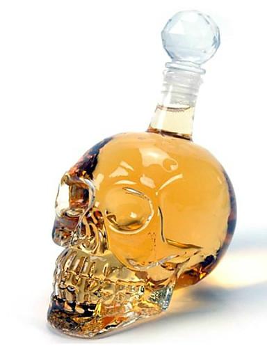 preiswerte Neuheiten bei Tassen und Gläsern-Kristallschädel 350ml Wodka Weinglasflasche Dekanter