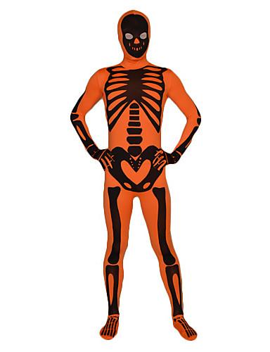 billige Zentai-Zentai Drakter Huddrag Ninja Voksne Elastan Cosplay-kostymer Kjønn Herre Dame Trykt mønster Halloween / Høy Elastisitet