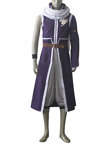 povoljno Anime cosplay-Inspirirana Fairy Tail Natsu Dragneel Anime Cosplay nošnje Japanski Cosplay Suits Kolaž Kaput / Hlače / Struk Pribor Za Muškarci