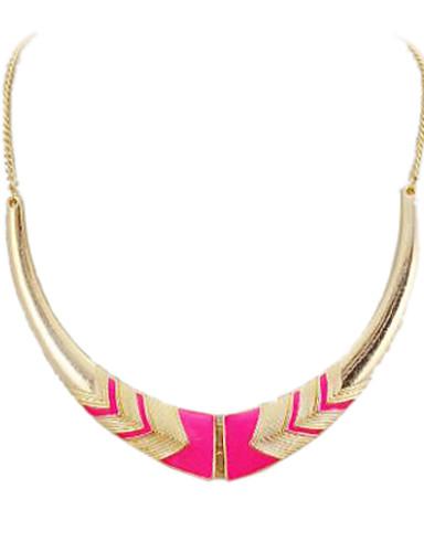 preiswerte Hualuo®-Damen Halsketten Statement Ketten Halbmond damas Einzigartiges Design Europäisch Modisch Aleación Schwarz Rosa Modische Halsketten Schmuck Für Party Herzliche Glückwünsche Alltag Normal
