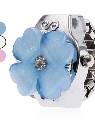olcso hu_Floral Watches-Női Gyűrűóra Kvarc hölgyek Alkalmi óra Ezüst Fehér Kék Rózsaszín Egy év Akkumulátor élettartama / Japán / Japán / SSUO SR626SW