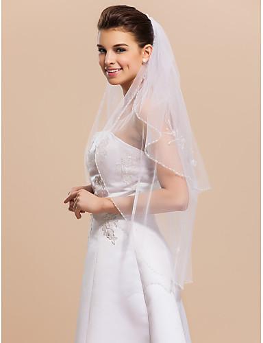 9687025318 2 réteg ujjbegyből esküvői menyasszonyi fátyol peremvédõs 594498 2019 –  $29.99