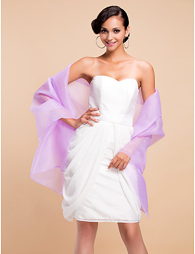 cheap Wedding Wraps-Wedding / Party/Evening Organza Shawls Sleeveless