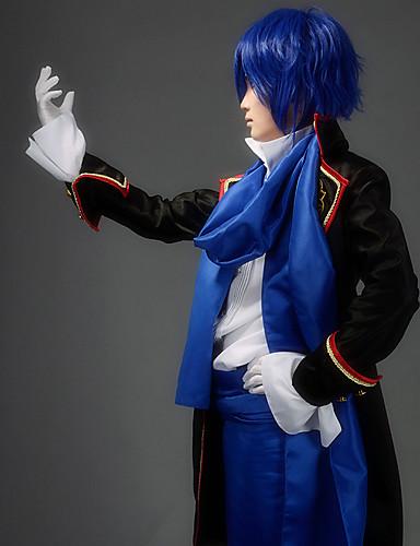 povoljno Maske i kostimi-Inspirirana Vocaloid KAITO Video igra Cosplay nošnje Cosplay Suits Kolaž Dugih rukava Shirt Hlače Struk Pribor Kostimi / Saten