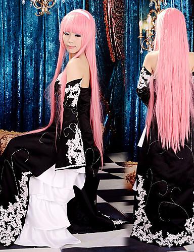 povoljno Maske i kostimi-Inspirirana Vocaloid Megurine Luka Video igra Cosplay nošnje Cosplay Suits / Dresses Kolaž Bez rukávů Haljina Rukavi Kostimi / Saten