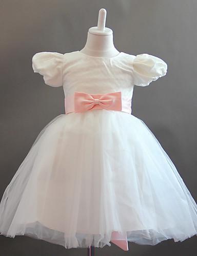 b9dc4432b2e A-line πριγκίπισσα κοντό μανίκι φούσκα τούλι τόξα γάμο / βραδινό φόρεμα  κοριτσιών λουλουδιών 661502 2019 – $49.99