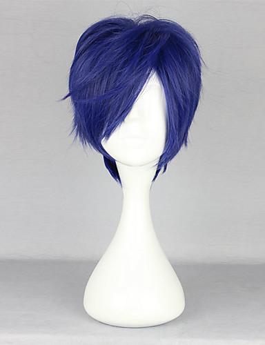 levne Cosplay paruky-Zdarma! Rei Ryugazaki Cosplay Paruky Pánské 14 inch Horkuvzdorné vlákno Inkoustová modř Anime
