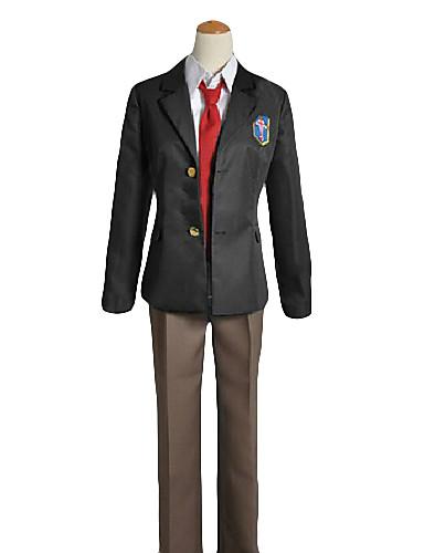 povoljno Maske i kostimi-Inspirirana Besplatno! Rei Ryugazaki Anime Cosplay nošnje Japanski Cosplay Suits / School Uniforms Jednobojni Dugih rukava Kaput / Shirt / Hlače Za Muškarci