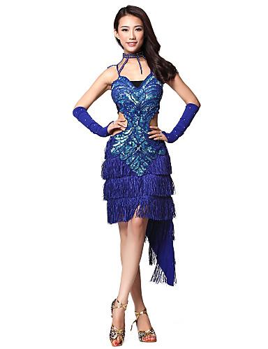 Dámské taneční šaty s kamínky a třásněmi(více barev) 716618 2019 –  79.99 340dfe8179